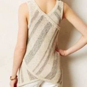 Anthropologie Sparrow Knit Sweater Tank Size M